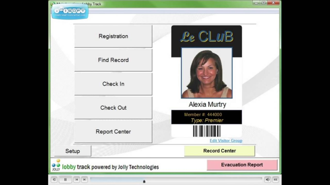 ID Management Systems - Visitor Badge Software Lobby Track 6 Jolly  Technologies