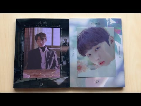 ♡Unboxing Yoon Jisung 윤지성 1st Mini Album Aside (傍 & 白 Ver.)♡