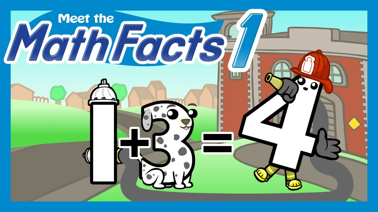 Meet the Math Facts Level 1 - 1+3=4 - YouTube