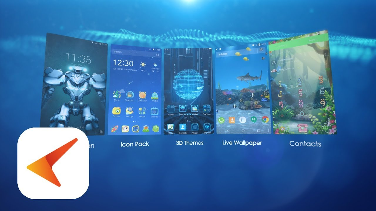 CM Launcher 3D 5 0 - More Personalized, Secure and Efficient