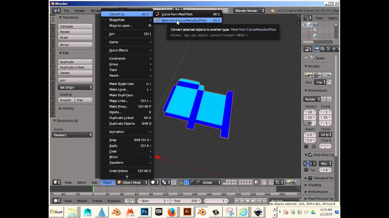 0402 Import SVG to Blender with correct Scale