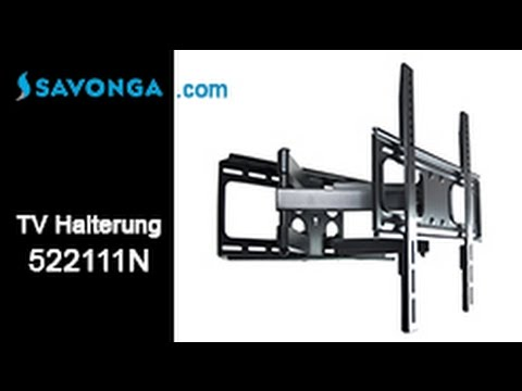 savonga 522111n tv wandhalterung 32 55 zoll schwenkbar neigbar youtube. Black Bedroom Furniture Sets. Home Design Ideas