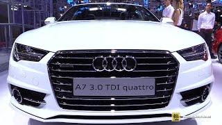 2017 audi a7 3 0 tdi quattro exterior and interior walkaround 2016 paris motor show