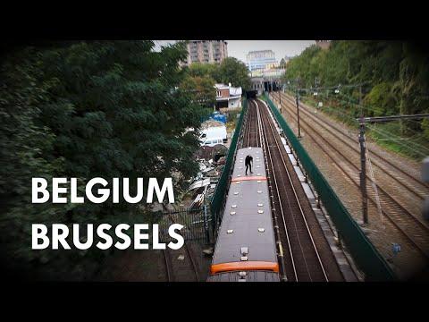 Brussels Metro Topride   Belgium Trainsurfing