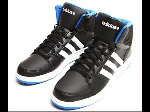 Adidas Neo Hoops Vs Mid Shoes Unboxing!!!!!!!! (Blue) YouTube
