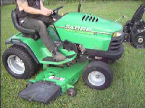 John Deere Sabre >> 2002 John Deere Sabre 2354hv Garden Tractor For Sale Youtube