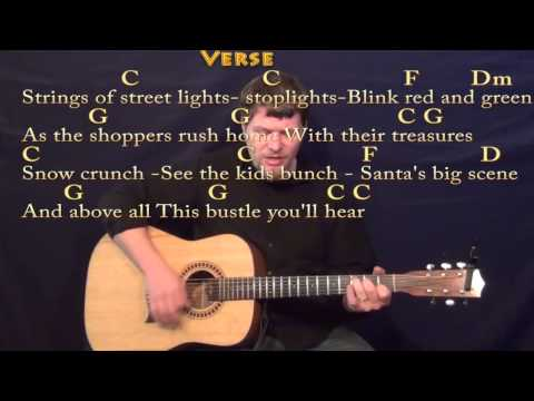 Silver Bells - Strum Guitar Cover Lesson in C with Chords/Lyrics
