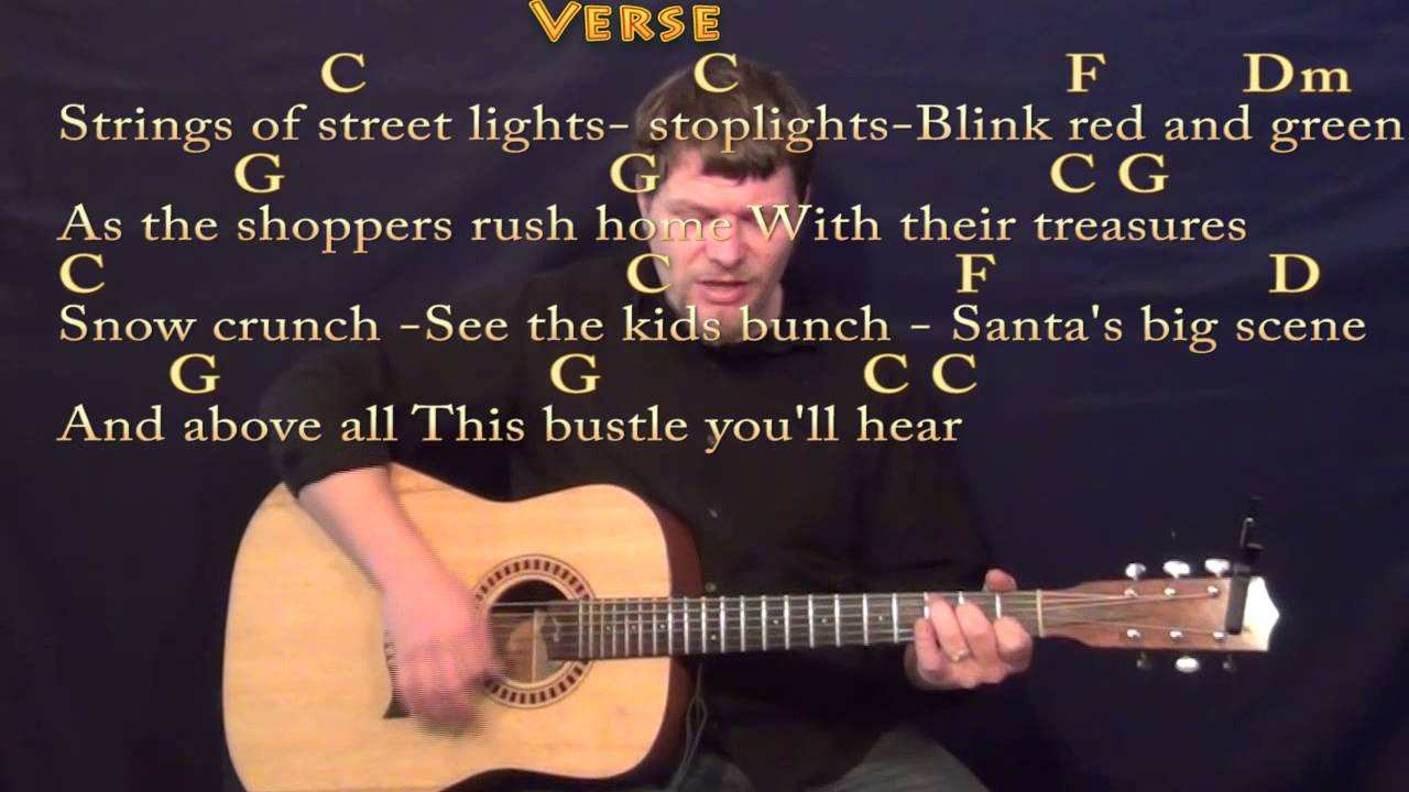 Silver Bells Strum Guitar Cover Lesson In C With Chordslyrics