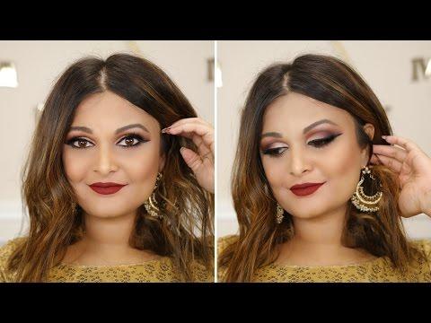 makeup by ethnico-NAVRATRI 2016 MAKEUP TUTORIAL | FALL BERRY SMOKEY CAT EYE + BERRY RED LIPS