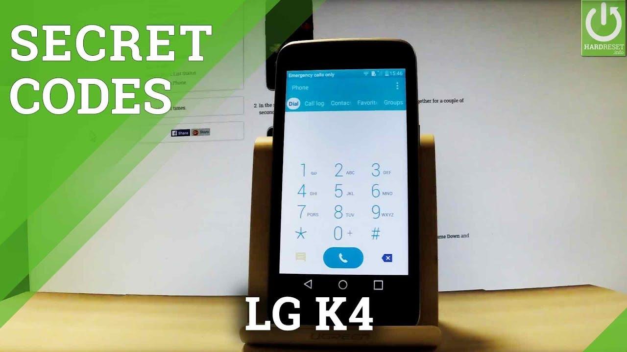 Secret Codes in LG K4 - Hidden Mode / Tips / Tricks / Advanced Options