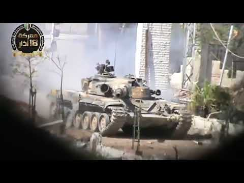18+ Go Pro T 72 Tank Get Nonstop Direct Hit By RPG In Syria War....