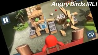 Angry Birds, but in Augmented Reality! [Angry Birds AR: Isle of Pigs]