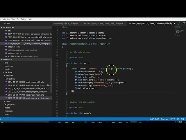 Laravel 5 5 tutorial   11   how to create a polymorphic relationship migrations