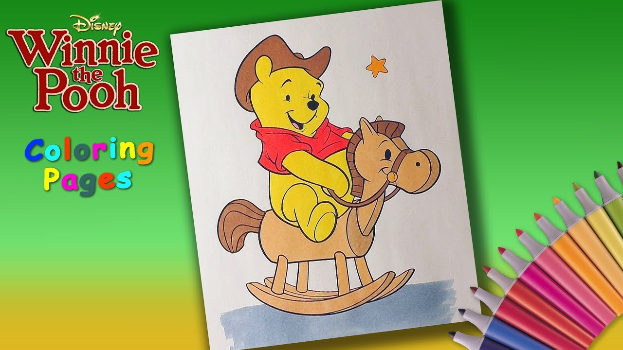 Winnie Pooh Coloring Pages. Winnie Pooh on a horse. Winnie Pooh and ...