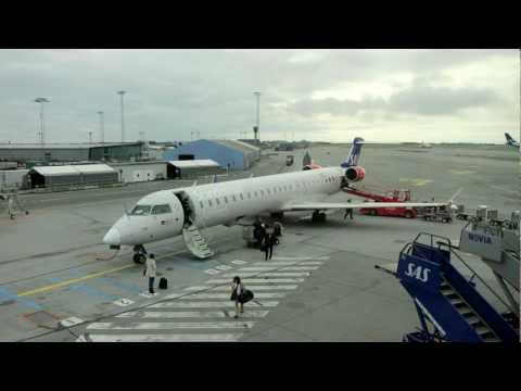 SAS Business Class: Dusseldorf to Copenhagen CRJ-900 Full Flight!!