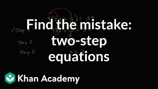 Mistakes In Solving Equations