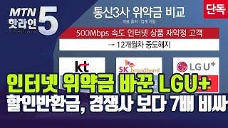 [단독] 인터넷 위약금 기준 바꾼 LGU+…할인반환금,…