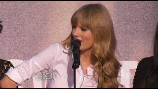 """Taylor Swift Performs """"Begin Again"""" on Ellen"""