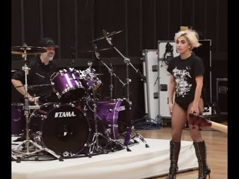 Metallica release new behind the scenes video rehearsing with Lady Gaga!