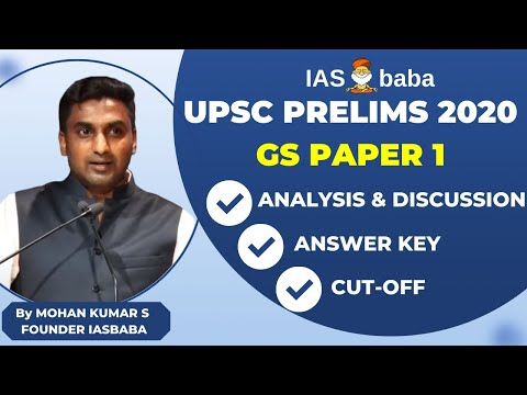 UPSC Prelims 2020- Detailed Analysis,Expected CutOff,Explanation,Answer Key |General Studies Paper I