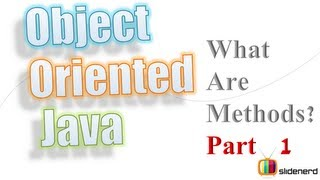 #2 Java Methods and Classes Part 1: Object Oriented Java Tutorial For Beginners [HD 1080p]