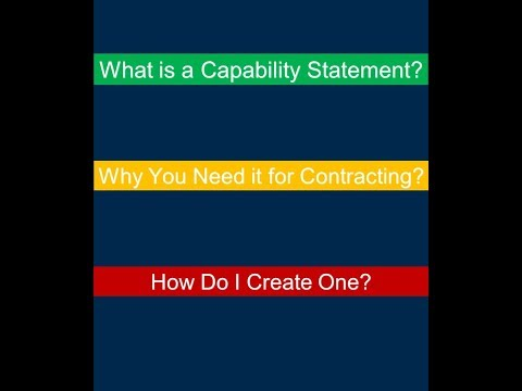 Marketing to Federal Buyers: How to Create Effective Capability Statements
