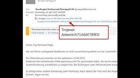 Rechtsanwalt Directpay Offene Rechnung Trojaner