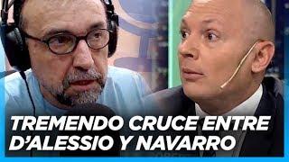 TREMENDO. Navarro acorraló a preguntas y dejó expuesto a D'Alessio en un picantísimo mano a mano