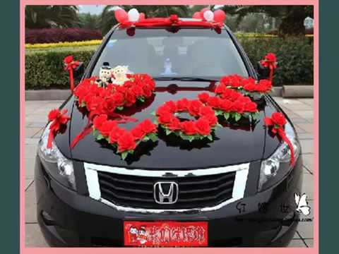 Red Wedding Car Flowers Collection Of Decor Picture Ideas