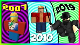 My ROBLOX Avatar Evolution (2007-2019)
