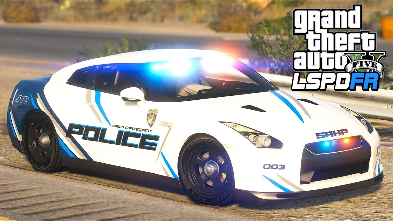GTA 5 - LSPDFR Ep390 - GTR Speed Enforcement Patrol!!
