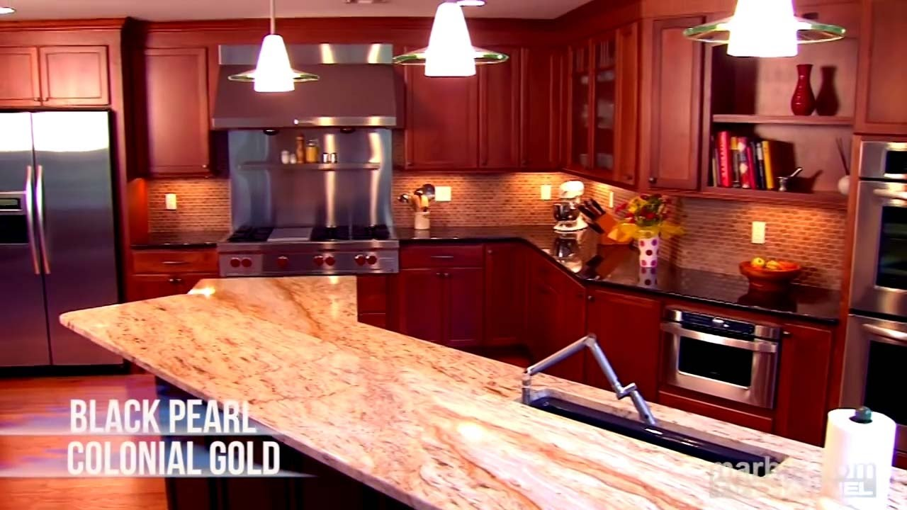 Colonial Gold Granite Kitchen Black Pearl And Colonial Gold Granite Kitchen Countertops By