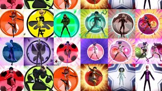 Miraculous Ladybug All Transformations, Powers, Unifications (S1- NEW YORK)