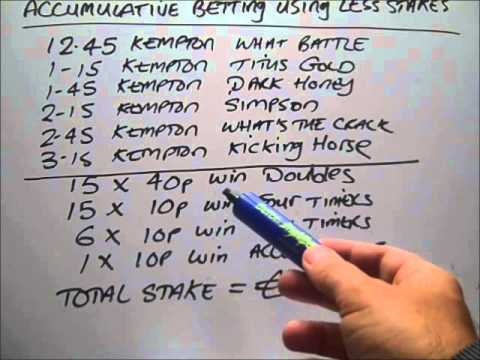 Accumulator multiple betting using less stakes