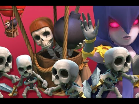 All Skeleton Raid |  MAX WITCHES  | Clash of Clans