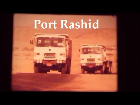 Port Rashid Construction, Dubia 1968/72. Plant, Lorries and Civil engineering by Costain.