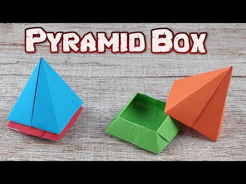 Origami Pyramid Box Paper | How To Making An Easy Pyramid Tutorial | DIY Paper Box Craft Idea