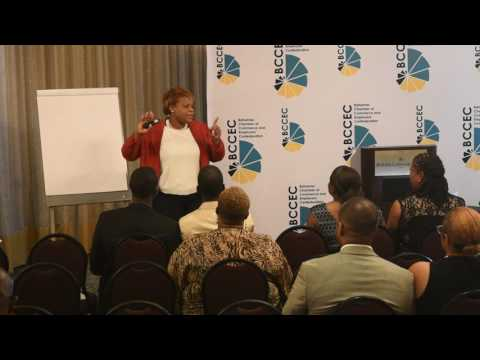 Camilita speaking in the Bahamas on 7 Figures Sales