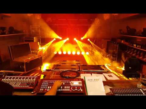 JUN PRO Mini Pearl DMX controller with Sharpy 7R Beam230 #show #stage lighting#malaysia