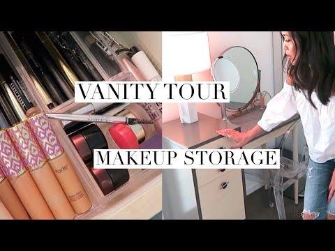 MAKEUP ORGANIZATION I VANITY TOUR I TOP SHELF PRODUCTS I Everyday Edit