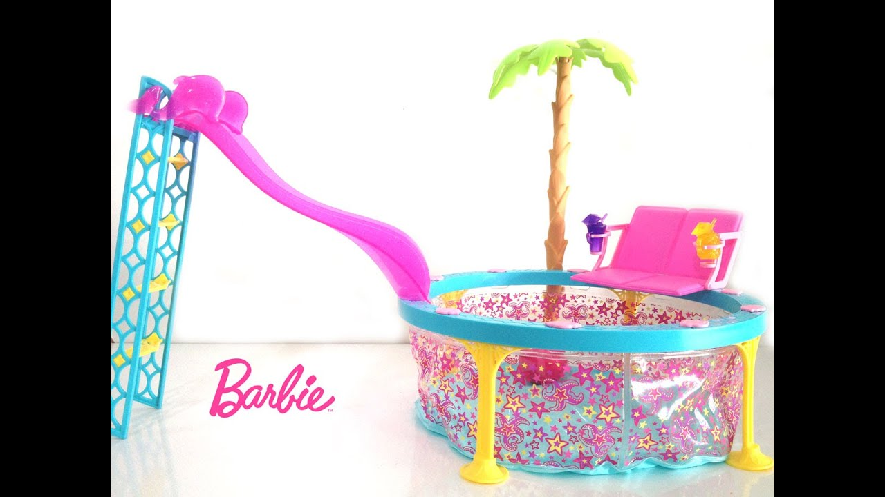 Piscina Toy Barbie Real Piscina Fashion Unboxing Toysbr Youtube