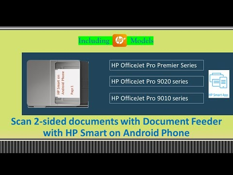 HP OfficeJet 9015 | 9015e | 9025| 9028 printer: Scan 2 sided document with HP Smart on Android phone