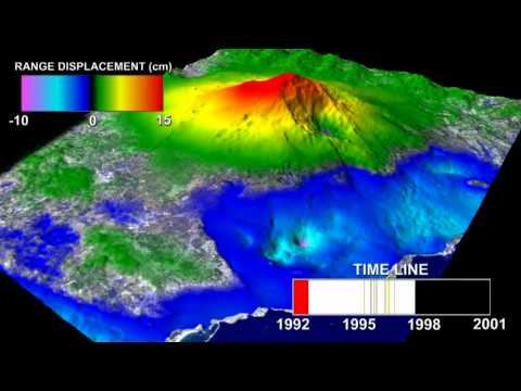 Mount Etna InSAR Time Series Animation [3D converted]