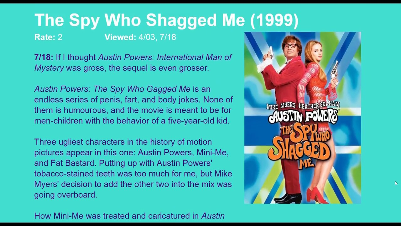 Movie Review Austin Powers The Spy Who Shagged Me 1999 Hd Youtube
