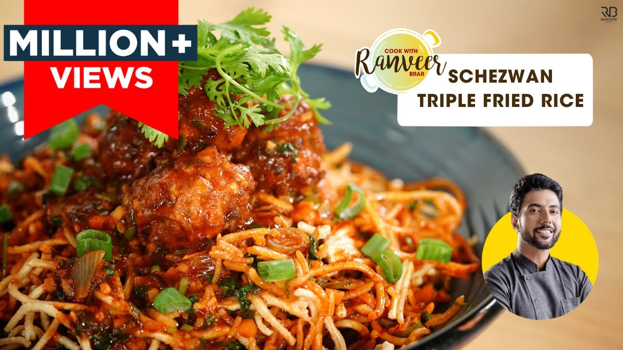Download Veg Triple Szechwan fried Rice   वेज शेजवान फ्राइड राइस   Street Style Fried Rice  Chef Ranveer Brar