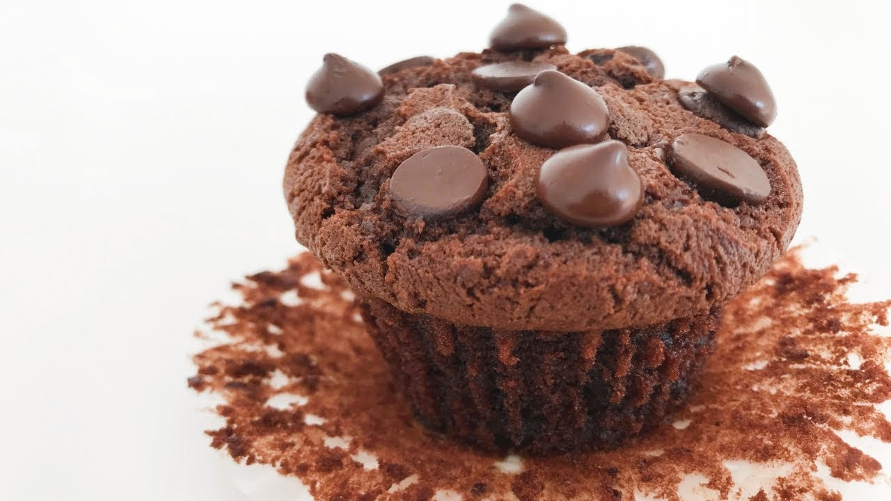 Double Chocolate Chip Muffins Resepi Muffin Coklat Chip