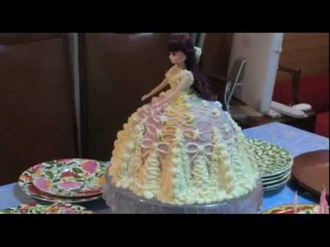 リカちゃん人形プリンセスドレスケーキlicca,chan princess doll birthday cake