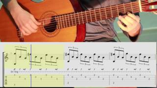 Романс Гомеса классическая гитара. ноты.Табы. Romanza - Fingerstyle Guitar w/ TAB