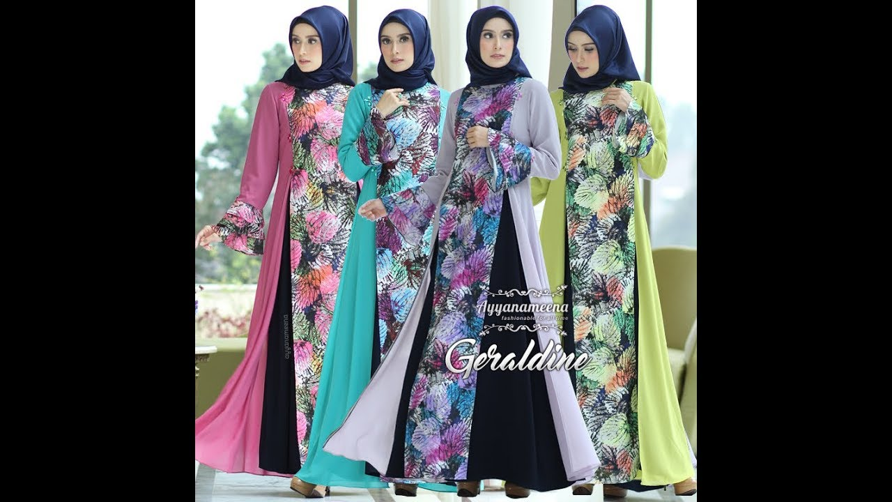 Baju Pesta Muslim Modern 2018 Geraldine Glamour Party Dress Youtube