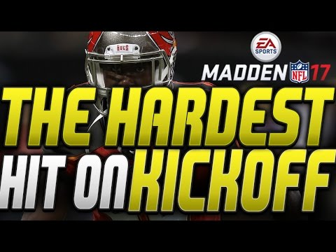 THE CRAZIEST KICKOFF HIT EVER IN MADDEN 17!! OMG LAVONTE DAVID IS A GOON ON SPECIAL TEAMS!!